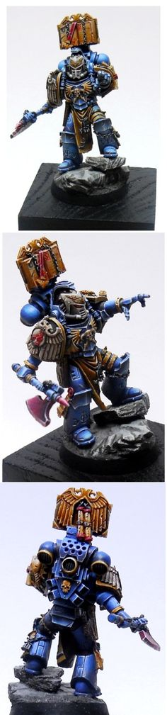 40k - Sevrin Loth, Librarian of the Red Scorpions Space Marines by Ungugu