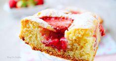 Gâteau moelleux aux fraises. . La recette par auxdelicesdupalais .