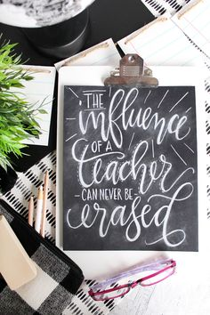 It's time for Teacher Appreciation, a whole week set aside just to honor our beloved teachers, and to help you out I'm sharing a free hand lettered Teacher Appreciation print!