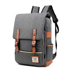 5c3ab35b6804 2018 Vintage Women Canvas Backpacks For Teenage Girls School Bags Large  High Quality Mochilas Escolares New Fashion Men Backpack-in Backpacks from  Luggage ...