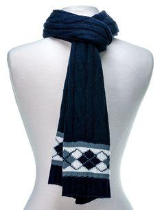 Men's Premium Cable Knit Winter Scarf
