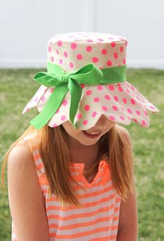Scalloped Kids Bucket Hat, Free Pattern