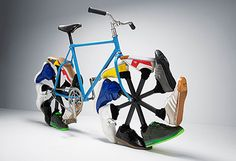 Shoes art: Walking Bike  http://www.facebook.com/tashi.shoes