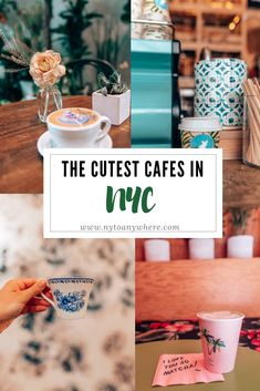 Check this list, then grab a seat at one of the Cutest Cafes in NYC. A list of cafes and coffee shops in New York to satisfy your caffeine craving. Coffee Shops, Nyc Coffee Shop, Best Coffee Nyc, New York Coffee, Cafe Nyc, Cafe New York, New York Travel Guide, New York City Travel, A New York Minute