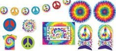 Feeling Groovy Room Decorating Kit 10pc - Party City