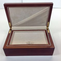 Lacquered Wood Jewelry Box With Removeable Tray
