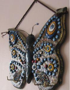 seramik hamuru ile özgün kelebek alışmamdır.
