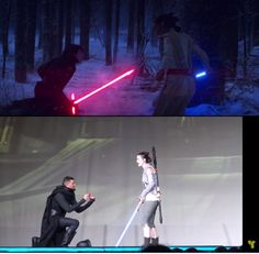 Kylo's proposal:) the bottom Rey says Yes:)
