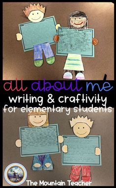 All About Me Informative Writing and Craft - Common Core Writing for Second Grade - Engaging Writing Activities for Elementary School.