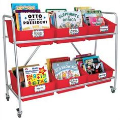 Really Good Classroom Library Rack With Picture Book Bins