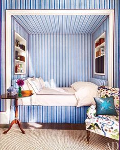 [New] The 10 Best Home Decor (with Pictures) - A blue and white bedroom for the design files Alcove Bed, Bed Nook, Bedroom Alcove, Studio Loft, Beach Bedding Sets, Ideas Hogar, Daughters Room, The Design Files, Cozy Bedroom
