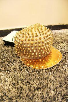 Gold-tone Spike Embellished Hat