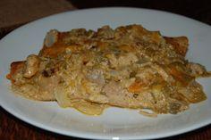 Cheesy Chicken Enchilada Casserole - low carb Trim Healthy Mama