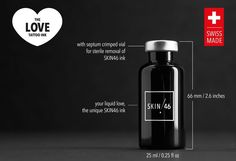 Launches Kickstarter Debuting Tattoo Ink Made From Human Hair Slider Images, Ways To Show Love, Love Tattoos, Tattoo Ink, Septum, Perfume Bottles, How To Remove, Product Launch, News