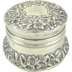 Sterling Silver & Gilt Dresser or Vanity Jar by Gorham