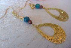 Σκουλαρίκια με αχάτη και φιλιγκρί Earrings Handmade, Drop Earrings, Jewelry, Fashion, Moda, Bijoux, Drop Earring, Jewlery, Fasion