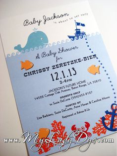 Hey, I found this really awesome Etsy listing at https://www.etsy.com/listing/168122458/under-the-sea-baby-shower-invitation