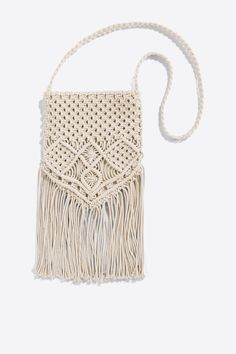 Women´secret - Bolso macramé con flecos