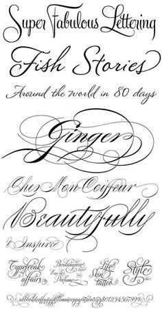 Romantic fonts