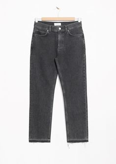 & Other Stories image 1 of Raw Edge Slim Jeans in Used Black