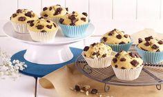 Muffins mit großen Schokoladenstückchen