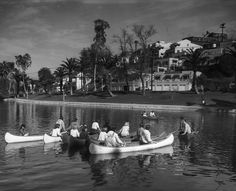Echo Park Lake, Los Angeles 1965 - Historic LA