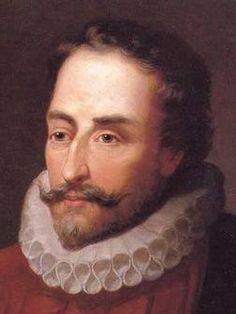 """Este es un cuadro en la cual esta el autor de """"Don Quijote de La Mancha"""", Miguel de Cervantes. El nacio el 29 de Septiembre en el año 1547. Y murio en el año 1616."""