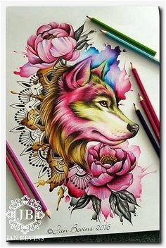 Bildergebnis für Aquarell Wolf Kopf Tattoo - New Ideas Wolf Tattoo Back, Small Wolf Tattoo, Wolf Tattoo Sleeve, Sleeve Tattoos, Tattoo Neck, Tattoo Forearm, Bad Wolf Tattoo, Wolf Tattoo Design, Skull Tattoo Design