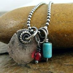 Rustic Sterling Silver Turquoise Necklace by dina wooten