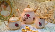 Gorgeous vintage Sadler large teapot with milk jug & lidded sugar bowl