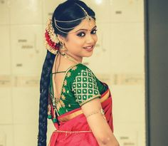 South Indian Bride Blouse Designs #SouthIndian #BridalBlouse