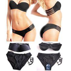 Black Strappy Bikini by Skinny Swimwear