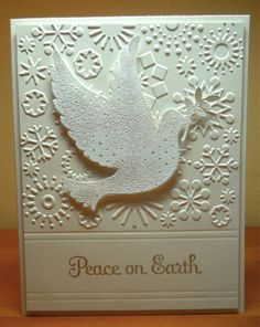 Merry Monday Dove by susanbri - Cards and Paper Crafts at Splitcoaststampers, Stamped and heat embossed on vellum!