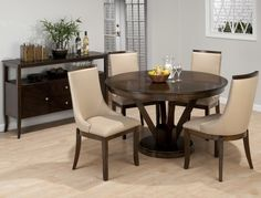 Add a touch of elegance to your home decor with the Jofran Whitney Round Dining Table . This beautiful round dining table is built from Asian. Cheap Dining Room Sets, Dining Table In Kitchen, Dining Tables, Small Dining, Small Round Kitchen Table, Ikea Kitchen, Room Kitchen, Kitchen Interior, Kitchen Design