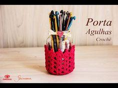 Porta agulhas Decorado com Crochê   Professora Simone - YouTube