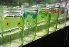 Little Flower Mason Jar | FaveCrafts.com
