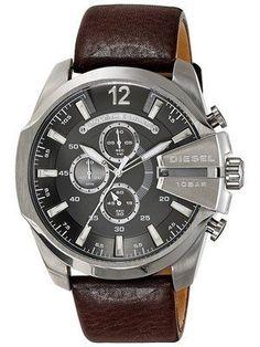 Diesel Mega Chief Chronograph Grey Dial DZ4290 Mens Watch