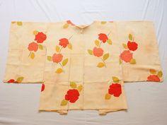 Japanese Vintage Kimono Haori Silk Light Pink Orange Good Condition P052938 | eBay