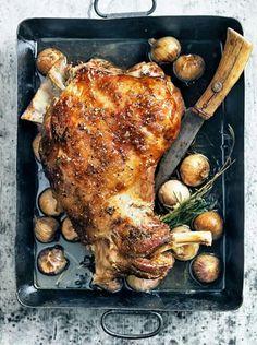 Lamb with garlic and rosemary