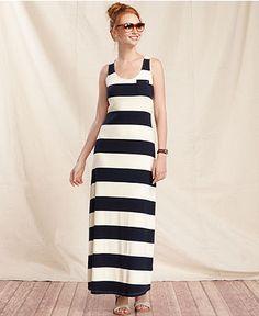 Tommy Hilfiger Dress, Sleeveless Striped Maxi - Dresses - Women - Macy's