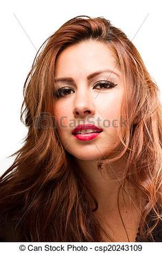 Stock Photo - Exotic Latina Teasing Hair - stock image, images, royalty free photo, stock photos, stock photograph, stock photographs, picture, pictures, graphic, graphics