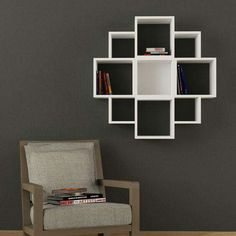 Corner wall shelves can significantly save space by eliminating the need to use a large amount of furniture, which adds functional practic. Decor, Furniture, Creative Bookshelves, Corner Wall Shelves, Shelves, Interior, Wall Shelves Design, Bookshelf Design, Home Decor