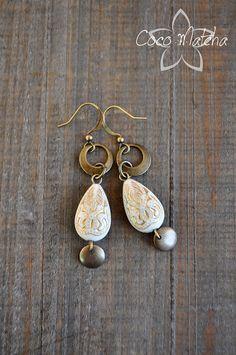 Boucles d'oreilles Golden Morocco par CocoMatcha sur Etsy