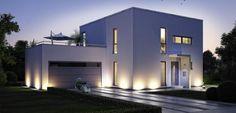 Edel und zeitlos präsentiert sich das Bauhaus Novum jedem, der Wert auf modernste Architektur legt. Der Design-Entwurf spricht eine klare und kompromisslose Formensprache. Schmale Fenster akzentuieren die Straßenseite. Gartenseitig schaffen die großen Fensterelemente einen fließenden Übergang von innen nach außen, von Wohnraum zu Balkon oder Terrasse. http://www.kern-haus.de/haeuser/bauhaus-architektur/k13.2_novum/detail/_16.83.html