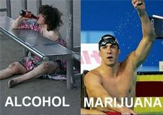 alcohol is more than twice as harmful as marijuana. [read this study]