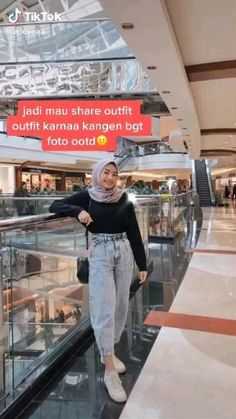 Casual Hijab Outfit, Ootd Hijab, Simple Outfits, Trendy Outfits, Fashion Outfits, Ootd Poses, Hijab Dress Party, Street Hijab Fashion, Hijab Fashion Inspiration