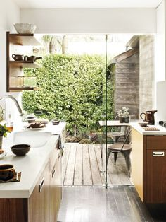 Would love to have an outdoor space off kitchen