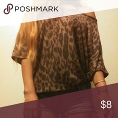 Forever 21 Leopard off shoulder top Top by Forever 21. Size: S. Forever 21 Tops