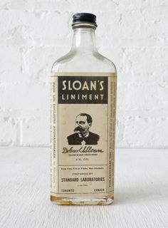 Sloan's Liniment. My Grandpa kept this and I remember after using it on sore muscles, I could taste it in my mouth!