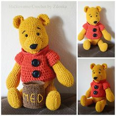 Type 3, Winnie The Pooh, Crochet Projects, Theater, Bears, Arts And Crafts, Teddy Bear, Characters, Facebook